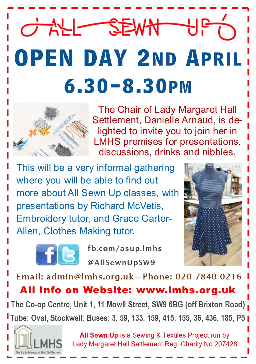 OPEN DAY! Tuesday 2 April 6.30-8.30pm