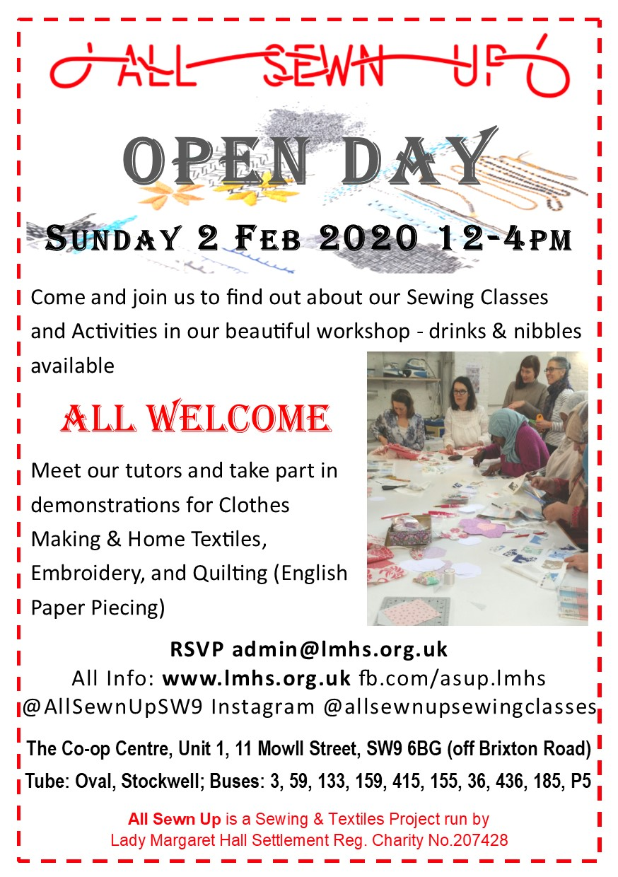 OPEN DAY Sunday 2 Feb 2020, 12-4pm